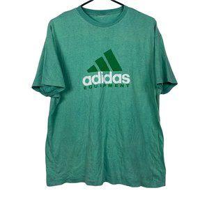 Adidas Equipment Vintage T-Shirt Mens Size XL Green Single Stitch 90s Streetwear